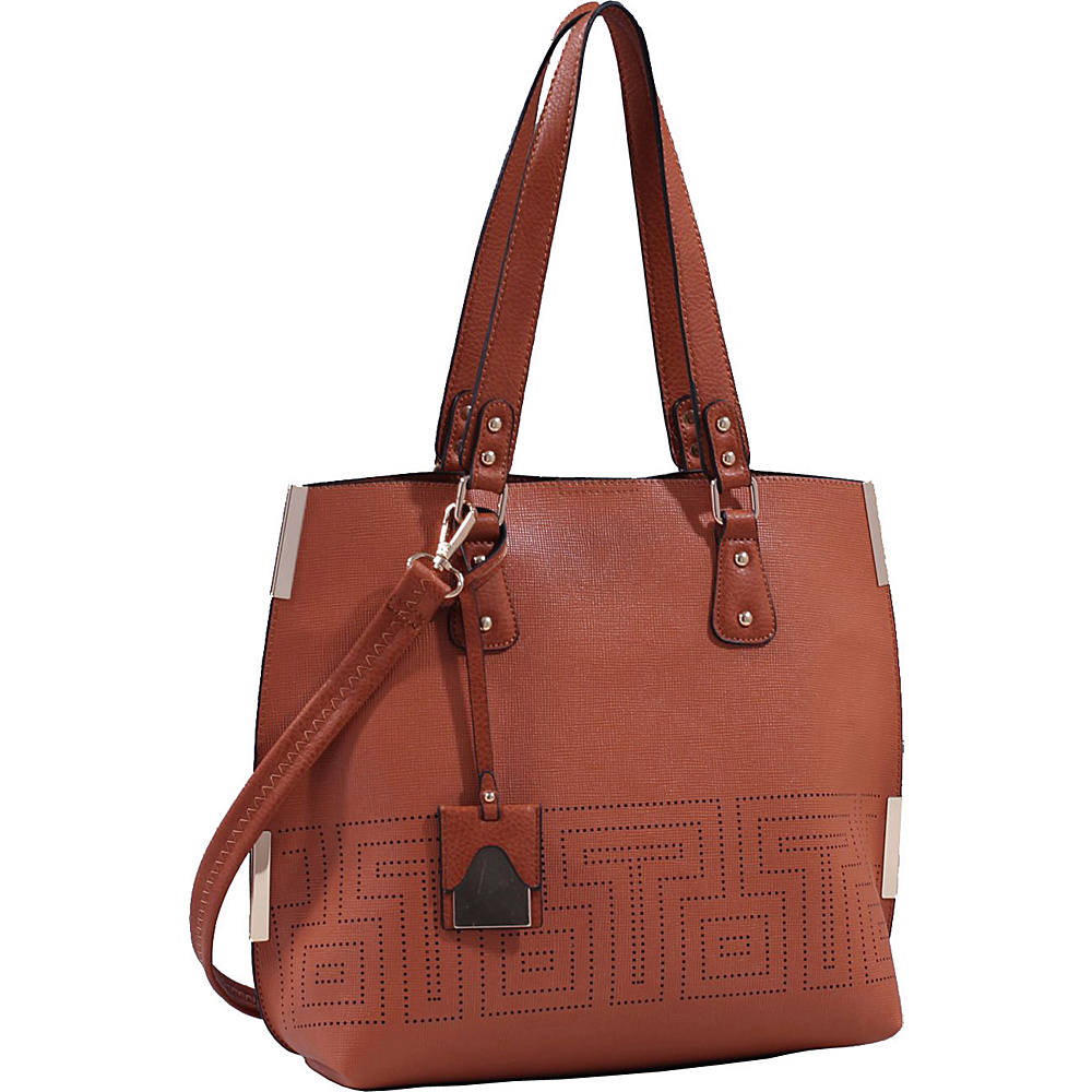 MKF Collection Lizzy Mazed Tote Bag with Removable Cosmetic Pouch Brown - MKF Collection Manmade Handbags - Handbags, Manmade Handbags
