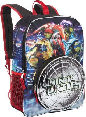 Teenage Mutant Ninja Turtles Sewer to City Action Light up 16 inch Backpack Black - Teenage Mutant Ninja Turtles Everyday Backpacks