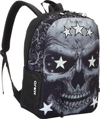 Mojo Mr. P Star Skull Backpack Black - Mojo Everyday Backpacks