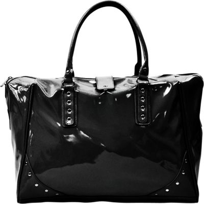 Tara's Travelers Patent Travel Tote Patent Black - Tara's Travelers Luggage Totes and Satchels