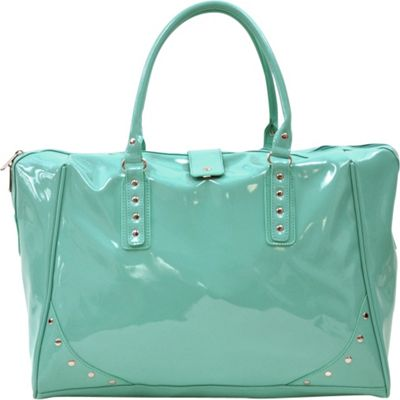 Tara's Travelers Patent Travel Tote Patent Turquoise - Tara's Travelers Luggage Totes and Satchels
