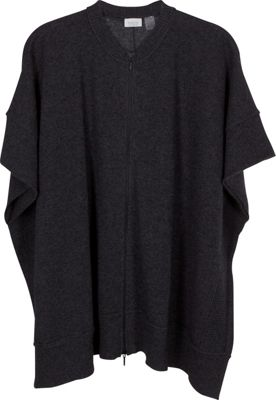 Kinross Cashmere Zip Front Poncho Charcoal - Kinross Cashmere Women's Apparel 10491315