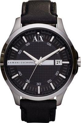 A/X Armani Exchange Smart Leather Watch Black - A/X Armani Exchange Watches