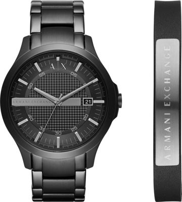 A/X Armani Exchange Smart Watch + Bracelet Gift Set Black...