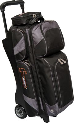 Hammer Premium Triple Roller Bowling Tote Carbon - Hammer Bowling Bags