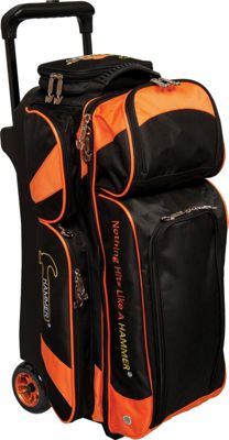 Hammer Premium Triple Roller Bowling Tote Orange - Hammer Bowling Bags