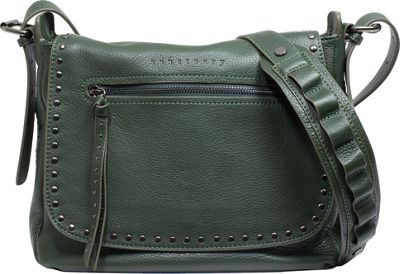 Sanctuary Handbags City Saddle Flap Crossbody Vert - Sanctuary Handbags Designer Handbags
