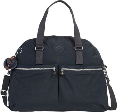 Kipling Eugina Satchel True Blue - Kipling Fabric Handbags