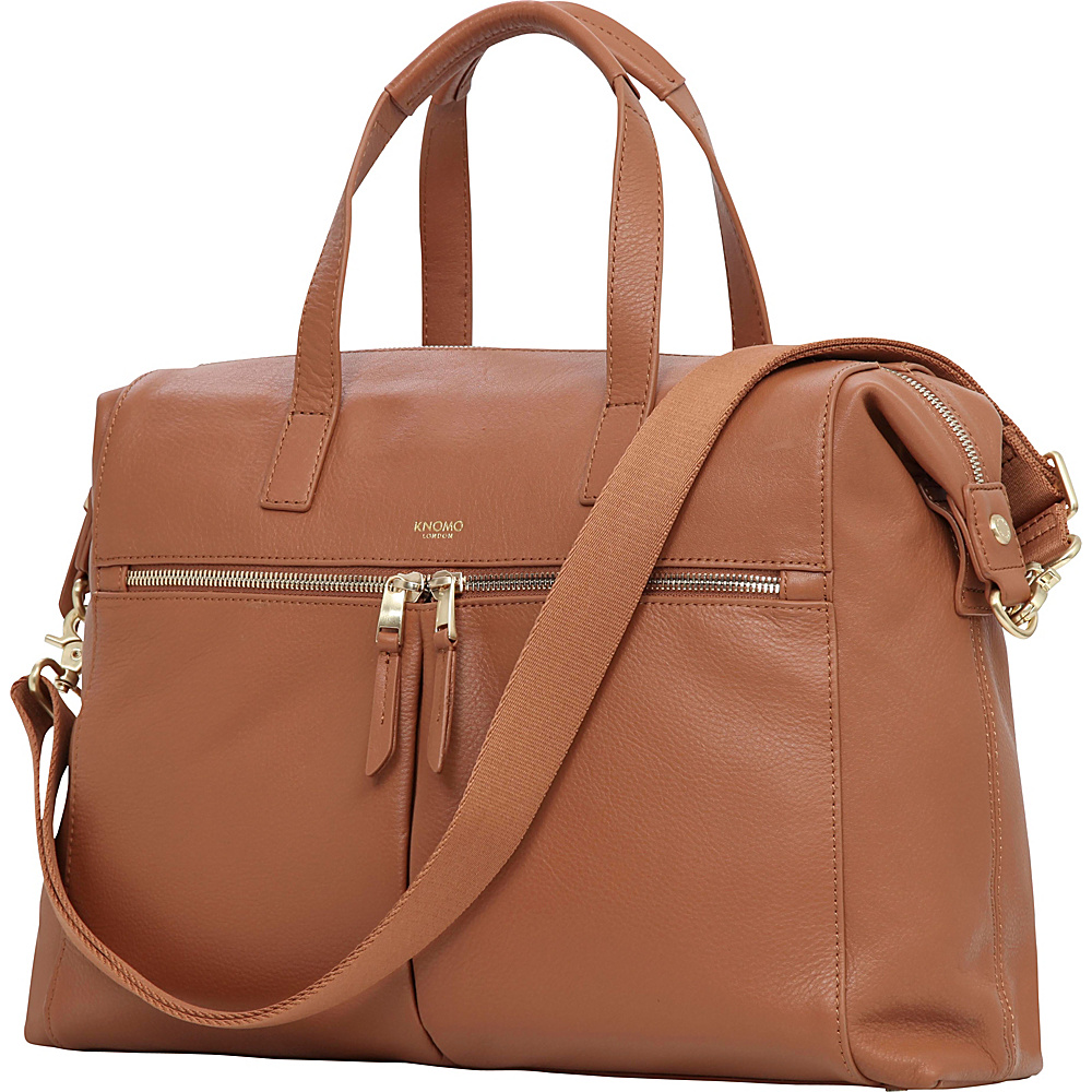 KNOMO London Mayfair Luxe Audley RFID Briefcase Caramel KNOMO London Women s Business Bags