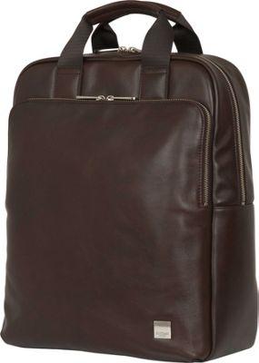 KNOMO London Brompton Classic Dale Convertible Backpack Brown - KNOMO London Business & Laptop Backpacks