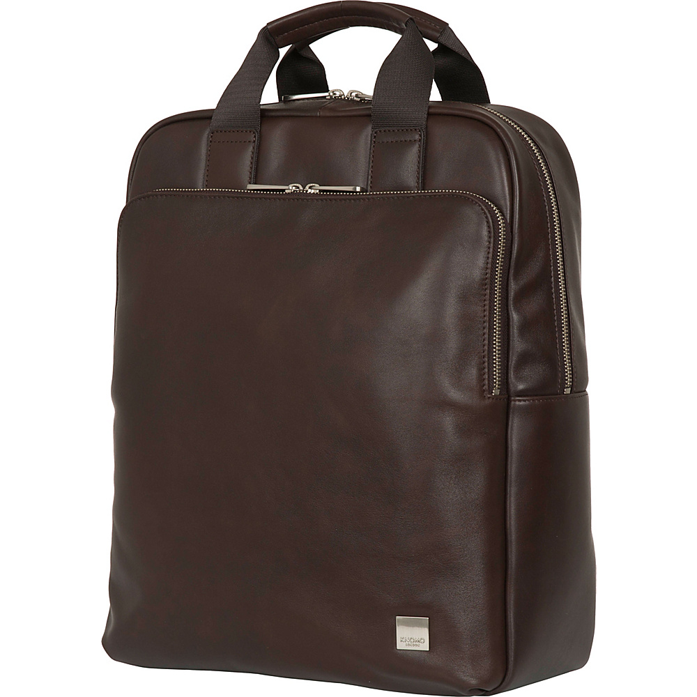 KNOMO London Brompton Classic Dale Convertible Backpack Brown - KNOMO London Business & Laptop Backpacks