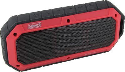 Coleman SoundTrail Slim Waterproof Bluetooth Speaker Red - Coleman Headphones & Speakers