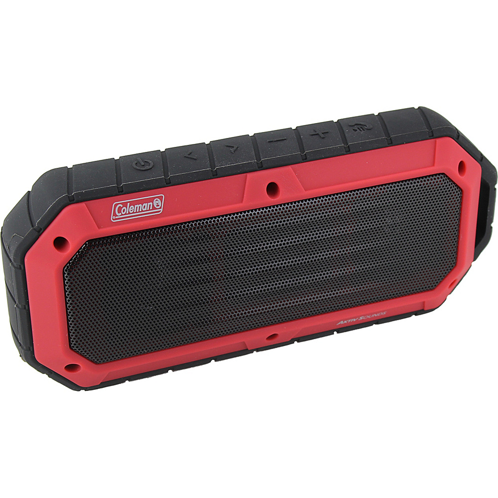 Coleman SoundTrail Slim Waterproof Bluetooth Speaker Red Coleman Headphones Speakers