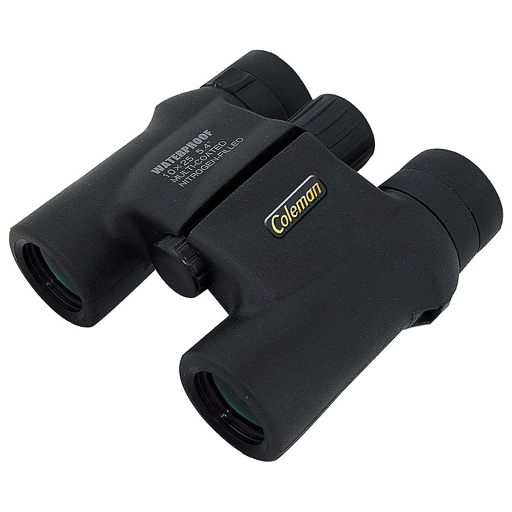 Coleman Signature 10x25 Waterproof Roof Prism Binoculars Black Coleman Cameras