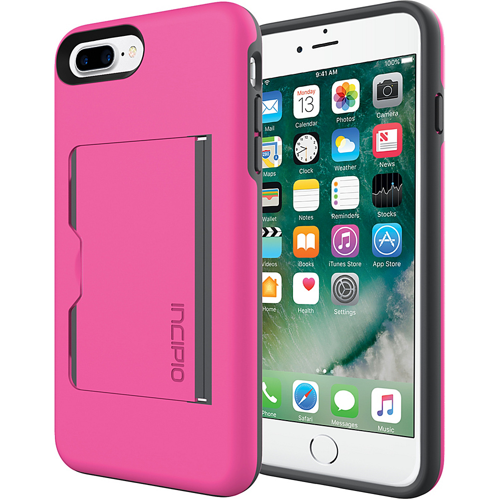 Incipio Stowaway for iPhone 7 Plus Pink/Charcoal(PKC) - Incipio Electronic Cases - Technology, Electronic Cases