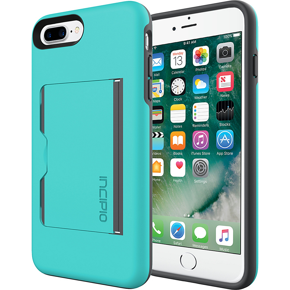 Incipio Stowaway for iPhone 7 Plus Turquoise/Charcoal(TQC) - Incipio Electronic Cases - Technology, Electronic Cases