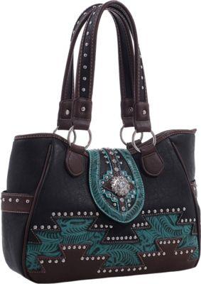 Epic Chic Abby Western Handbag Black - Epic Chic Manmade Handbags