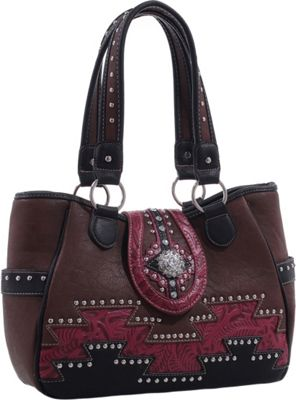 Epic Chic Abby Western Handbag Brown - Epic Chic Manmade Handbags