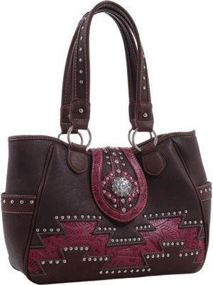 Epic Chic Abby Western Handbag Coffee - Epic Chic Manmade Handbags