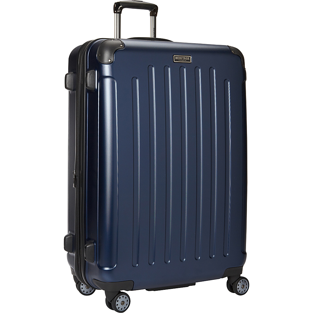 Heritage Logan Square Collection 29 Expandable 8 Wheel Luggage Navy Heritage Hardside Checked