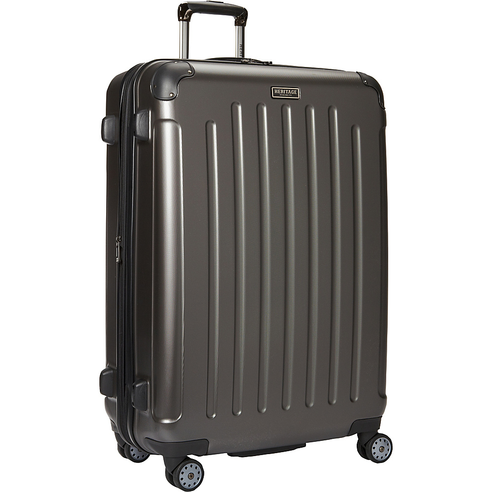 Heritage Logan Square Collection 29 Expandable 8 Wheel Luggage Charcoal Heritage Hardside Checked