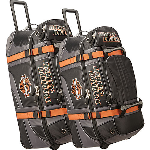 harley davidson by athalon harley davidson 2pc set 22 33 wheeled equipment duffels. Black Bedroom Furniture Sets. Home Design Ideas