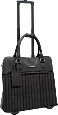 Cabrelli Lucy Laser 15 inch Laptop Rollerbrief BLACK/BLACK - Cabrelli Wheeled Business Cases