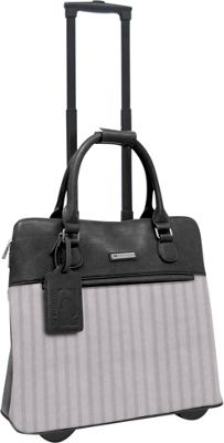 Cabrelli Lucy Laser 15 inch Laptop Rollerbrief Black/Grey - Cabrelli Wheeled Business Cases