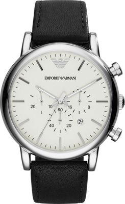 Emporio Armani Classic Chronograph Watch Black - Emporio ...