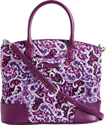 Vera Bradley Day Off Satchel Lilac Paisley with Purple - Vera Bradley Fabric Handbags