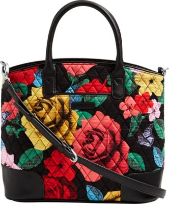 Vera Bradley Day Off Satchel Havana Rose - Vera Bradley Fabric Handbags