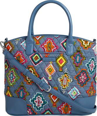 Vera Bradley Day Off Satchel Painted Medallions - Vera Bradley Fabric Handbags