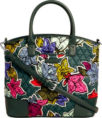 Vera Bradley Day Off Satchel Falling Flowers - Vera Bradley Fabric Handbags