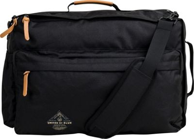 United by Blue Basin Convertible Messenger Pack Black - United by Blue Messenger Bags