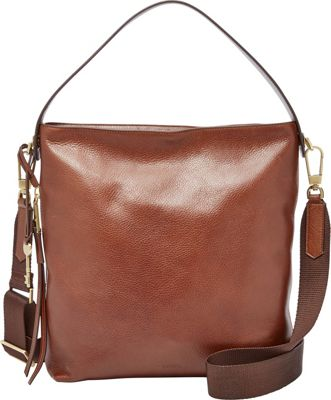 Fossil Maya Small Hobo Brown - Fossil Leather Handbags