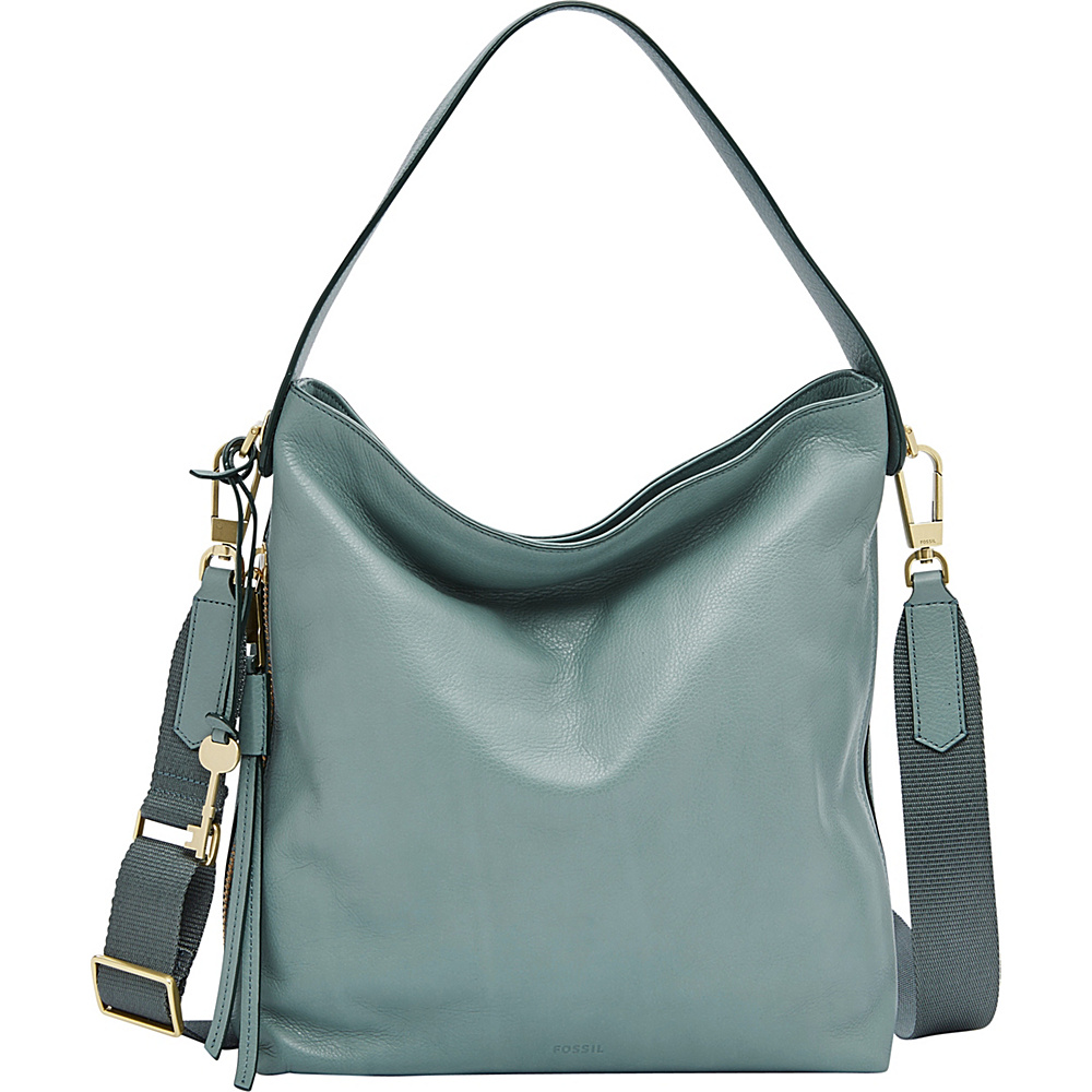 Fossil Maya Small Hobo Blue - Fossil Leather Handbags - Handbags, Leather Handbags