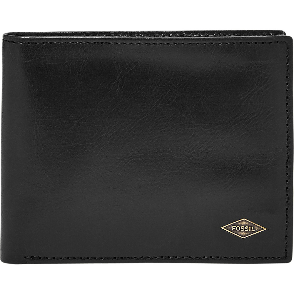 Fossil Ryan RFID L-Zip Bifold Black - Fossil Mens Wallets - Work Bags & Briefcases, Men's Wallets