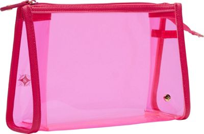 Stephanie Johnson Miami Medium Zip Cosmetic Case Pink - Stephanie Johnson Travel Health & Beauty