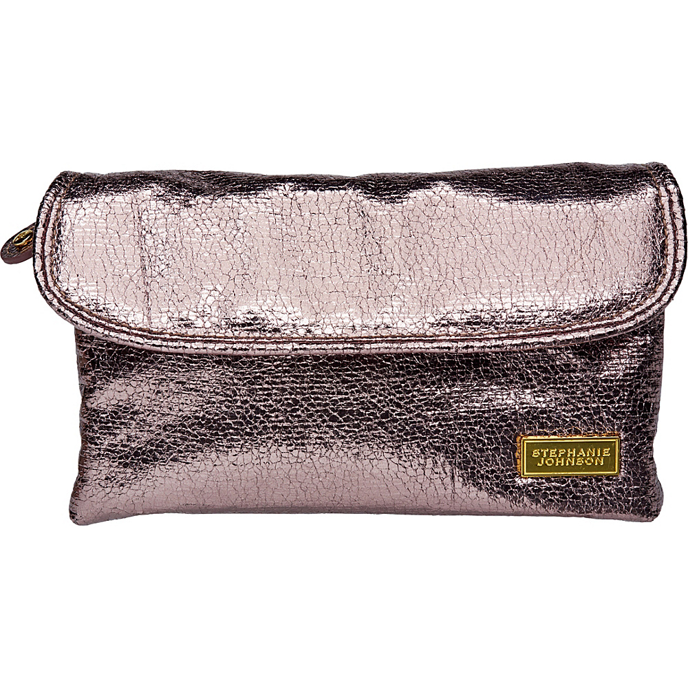 Stephanie Johnson Tinseltown Katie Folding Cosmetic Bag Gunmetal Stephanie Johnson Women s SLG Other