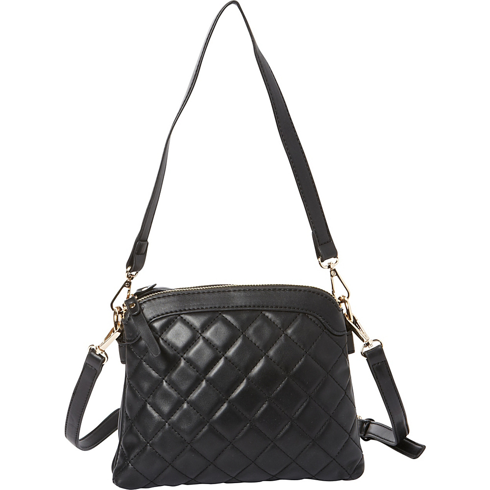 La Diva Maia Mini Quilted Crossbody Black La Diva Manmade Handbags