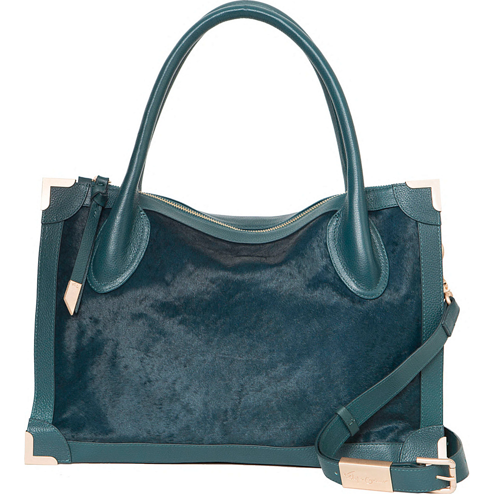 Foley Corinna Frankie Satchel Peacock Foley Corinna Designer Handbags