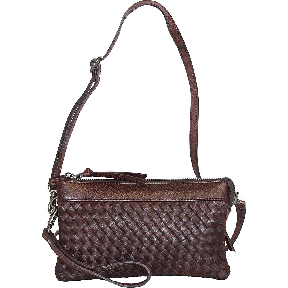Nino Bossi Hydrangea Bouquet Crossbody Walnut - Nino Bossi Leather Handbags - Handbags, Leather Handbags