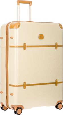 BRIC'S Bellagio 2.0 32 inch Spinner Trunk Cream - BRIC'S Hardside Checked