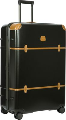 BRIC'S Bellagio 2.0 32 inch Spinner Trunk Black - BRIC'S Hardside Checked