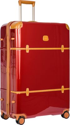 BRIC'S Bellagio 2.0 32 inch Spinner Trunk Shiny Red - BRIC'S Hardside Checked