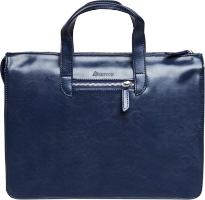 Setton Brothers Elogio Briefcase Blue - Setton Brothers Non-Wheeled Business Cases