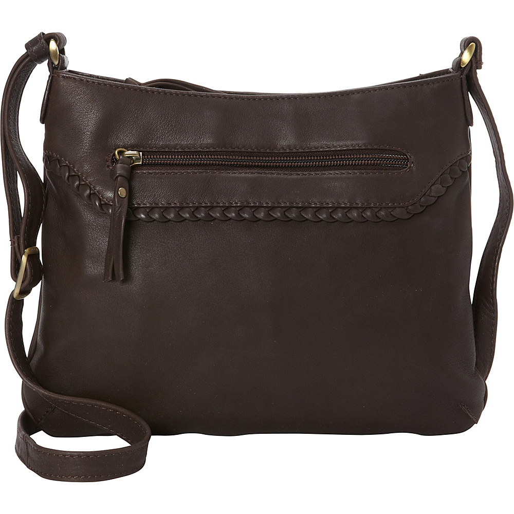 Derek Alexander Small Top Zip Convertible Crossbody Brown - Derek Alexander Leather Handbags - Handbags, Leather Handbags