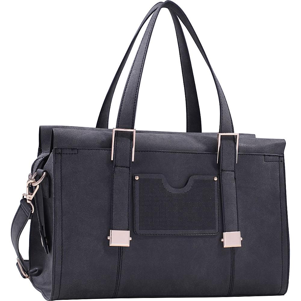 MKF Collection Kiki Satchel With Cosmetic Pouch Black - MKF Collection Manmade Handbags - Handbags, Manmade Handbags