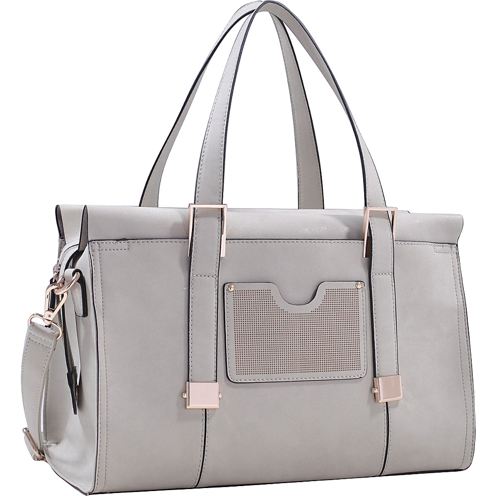 MKF Collection by Mia K. Farrow Kiki Satchel With Cosmetic Pouch Light Grey - MKF Collection by Mia K. Farrow Gym Bags - Sports, Gym Bags