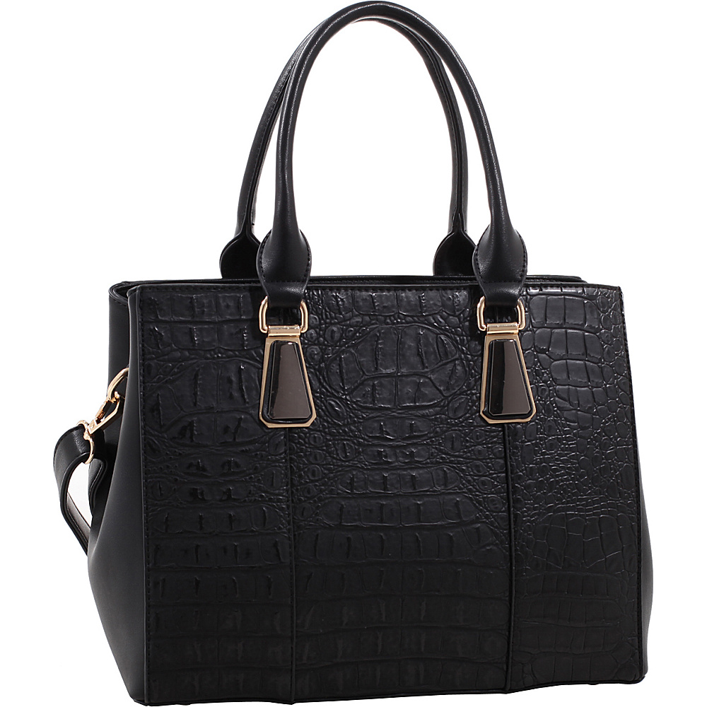 MKF Collection Willow Crocodile Leather Tote Black - MKF Collection Manmade Handbags - Handbags, Manmade Handbags